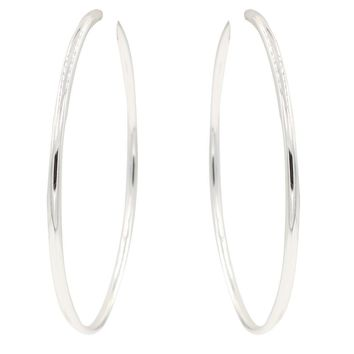 CHIC! Traditional Silver Hoop Clip On Earrings