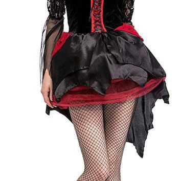 Halloween cosplay costumes Sexy dress Ennoblement race Vampire queen swallow tail dress with hat steampunk costume stage dress
