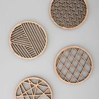 Geometric Wood Coasters