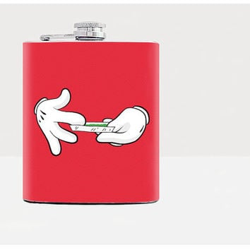 Mickey_Mouse - Flask - 21st - Disney - Mickey - party - bar - whiskey- red