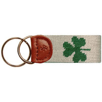 Shamrock Key Fob in Beige by Smathers & Branson