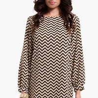 Gettin' Ziggy Shift Dress $46