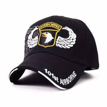 2016 Hot 101st Airborne Eagle Baseball Caps US Navy Hat for Men Women Bone Gorras Tactical Army Casquette tourism Hats