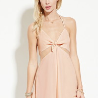 Self-Tie Cutout Halter Dress | Forever 21 - 2000177036