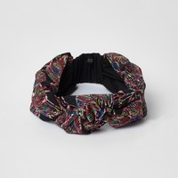 Black embroidered knot headband - Hair Accessories - Accessories - women
