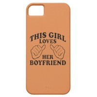 This Girl Loves Her Boyfriend Coral Rose 2 iPhone 5 Cases