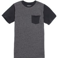 Hurley Oscar Mock Twist Front T-Shirt - Mens Tee - Black