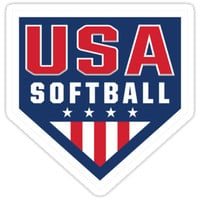 'Vintage Team USA Softball Logo' Sticker by CaptainsMusic