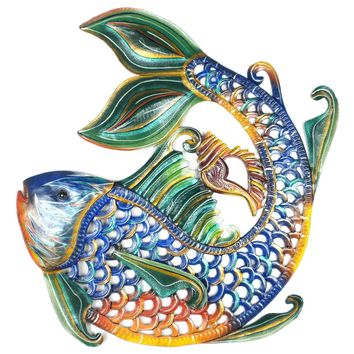 Colorful Fish Haitian Metal Art