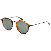 Ray-Ban Rb2447 Round Icon Tortoise Sunglasses Black Combo One Size For Men 25844714901