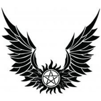 Supernatural Devils Trap Symbol Sigil Vinyl Sticker Decal Pentagram Possession