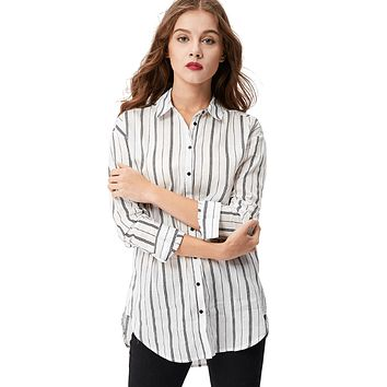 Women Vertical Striped Blouse