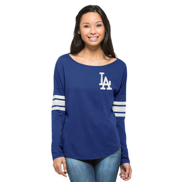 Women's '47 Royal Los Angeles Dodgers Ultra Courtside Long Sleeve T-Shirt