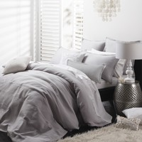 Manhattan Silver Quilt Cover Set by Private Collection - Just Bedding