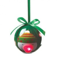 Charming Snowman Light-Up Christmas Tree Ornament