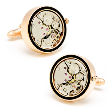 Steampunk Watch Movement Cufflinks