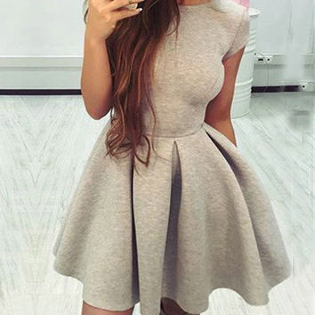 Streetstyle  Casual Fashion Solid Color Open Back Dress