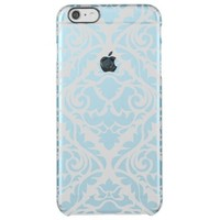 pale blue,damask,trendy,floral,vintage,modern,chic uncommon clearly™ deflector iPhone 6 plus case