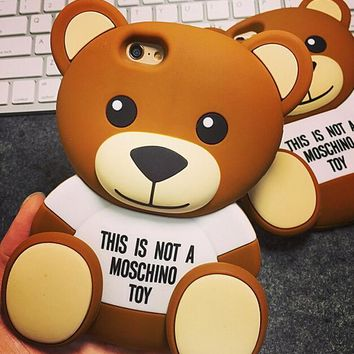 Cute Bear Silicone Case for iPhone 5s 6 6s Case iPhone 6 6s Plus Gift-78-170928