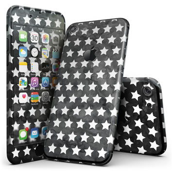 Black and White Watercolor Stars - 4-Piece Skin Kit for the iPhone 7 or 7 Plus