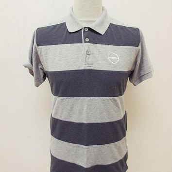 Retro Umbro Striped Polo Shirt Small