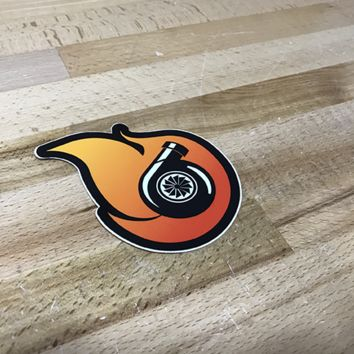 Boostnatics Turbo Flame Decal / Sticker