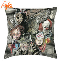 Hyha America Horror Story Polwester Pillow Case Cover Chucky Dolls Daniel Ayala Murderers Pillowcase Five Nights at Freddy's