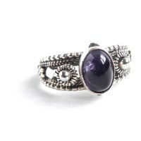 Vintage Sterling Silver Purple Stone Ring  Retro by MaejeanVINTAGE