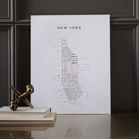 42 Pressed Roam Map - New York