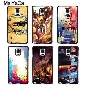 MaiYaCa SUPERNATURAL SAM DEAN CASTIEL WINCHESTER TV SHOW Phone Cases For Samsung S5 S6 S7 edge plus S8 S9 plus Note 4 5 8 Cover