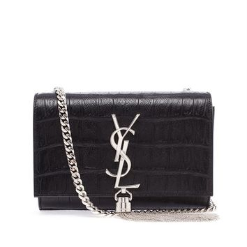 SAINT LAURENT | Crocodile Embossed Leather Monogram Bag | Browns fashion & designer clothes & clothing