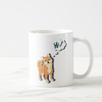 Thoughtful Shiba Inu Coffee Mug