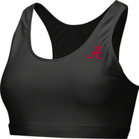 Alabama Crimson Tide Black Women's Studio Sports Bra