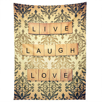 Shannon Clark Live Laugh Love Tapestry