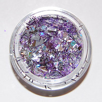Solvent Resistant Glitter Mix: Silver and Lavender Sparkle Mix 5 GRAM JAR. Raw Glitter Mix for Nail Polish and Nail Art