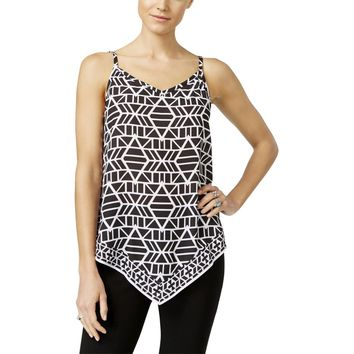 INC Womens Printed Handkerchief Hem Tank Top
