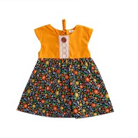 Bohemian Floral Toddler Baby Kids Girls Summer Lace Flower Sundress Party Dress Clothes 0-4T