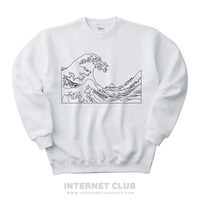 Aesthetic Great Wave Sweatshirt