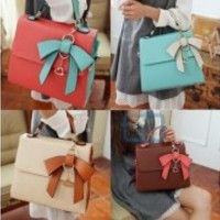Fashion Korean Style sweet three-dimensional bow shoulder bag Satchel bag