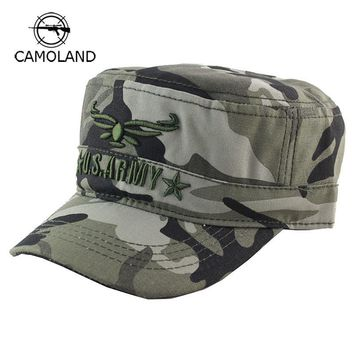 Trendy Winter Jacket 2018 New Camo Flat Cap US Army Cap Men Women Baseball Cap Camouflage Male Female Snapback Bone Tactical Outdoors Sport Hats AT_92_12