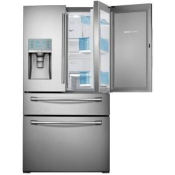 Samsung, 29.5 cu. ft. French Door Refrigerator in Stainless Steel with Food Showcase Design, RF30HBEDBSR at The Home Depot - Mobile
