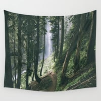 To The Falls Wall Tapestry by hannahkemp