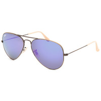 Ray-Ban Aviator Flash Lenses Sunglasses Violet One Size For Men 26222175601