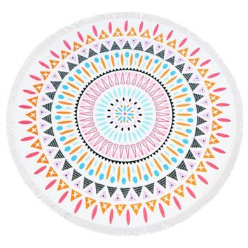 Doily Pattern Round Beach Towel Mat General Merchandise 169