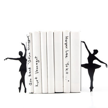 Metal Bookends Ballerinas // Allongée // Ballet Nursery theme // Modern Home Decor / Gift for a ballet dancer // Free Shipping Worldwide