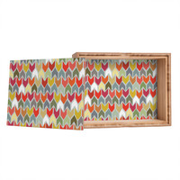 Sharon Turner Beach House Ikat Chevron Jewelry Box