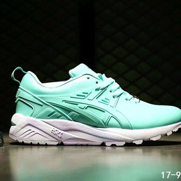 one nice asics gel kayano trainer women men running sport shoes sneakers b ssrs cjzx green  number 1