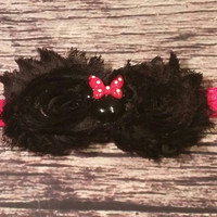 Baby Girl Minnie Headband! Red and Black - Newborn - Infant -Baby headbands - hair bows - toddler - Headbands - Hair bands - Baby - Girls
