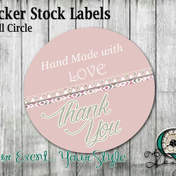 Custome Small Circle 1.5x1.5 Product Sticker Labels Thank you Notes Envelope stickers graphic design personalized customized Quality