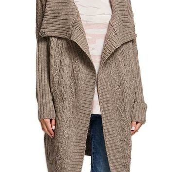 RD Style Shitake Cable Wrap Sweater Coat